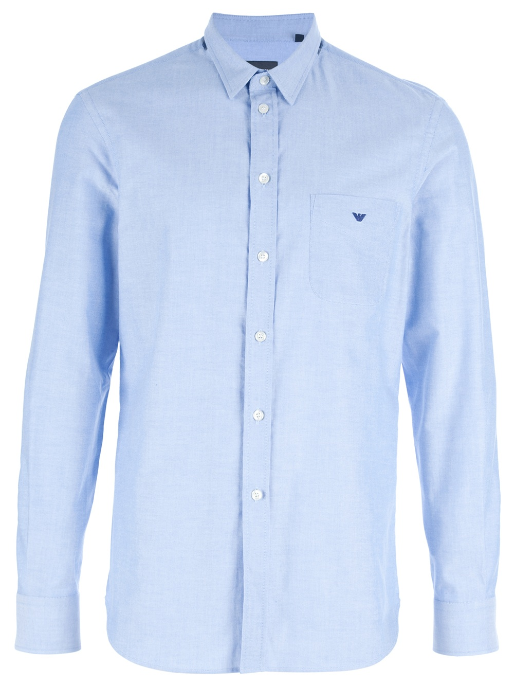 emporio armani logo shirt in blue for men lyst
