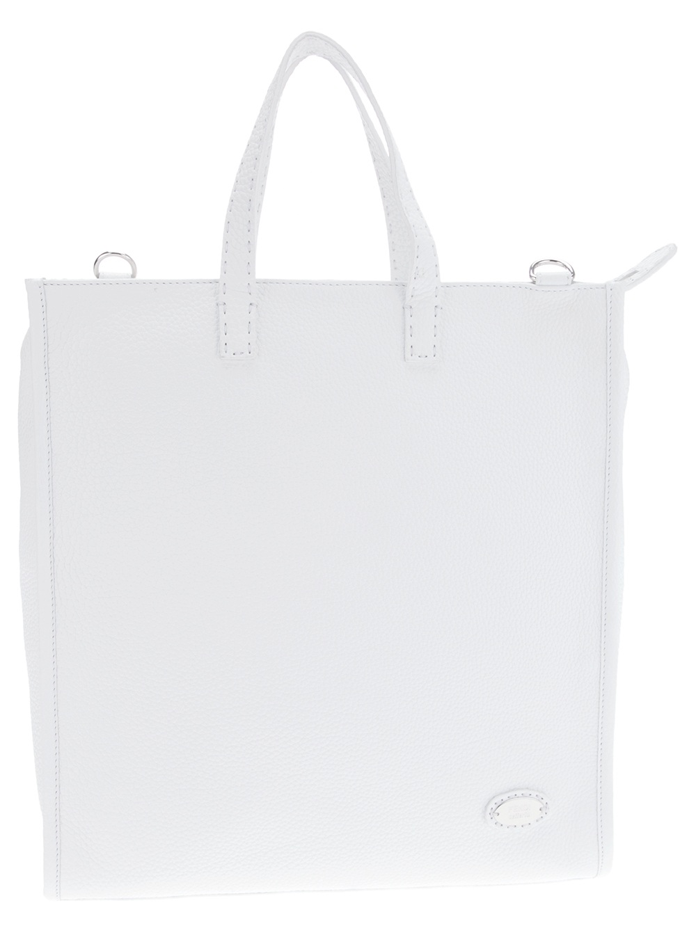 Fendi Travel Shopper Tote Bag in White for Men | Lyst
