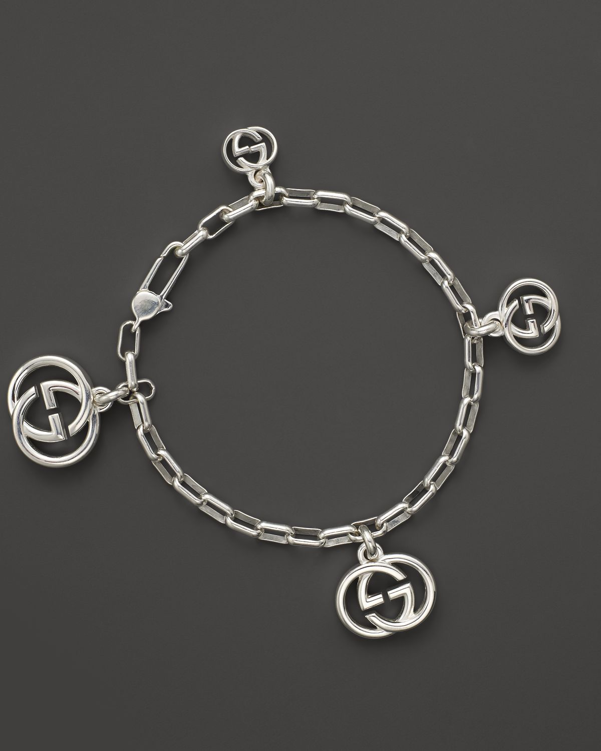 Gucci Interlocking Collection Double G Charm Bracelet in ...