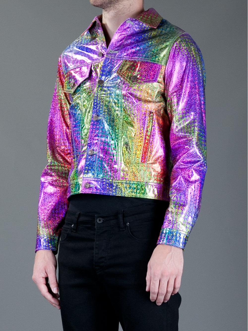Lyst Jeremy Scott Hologram Jean Jacket For Men