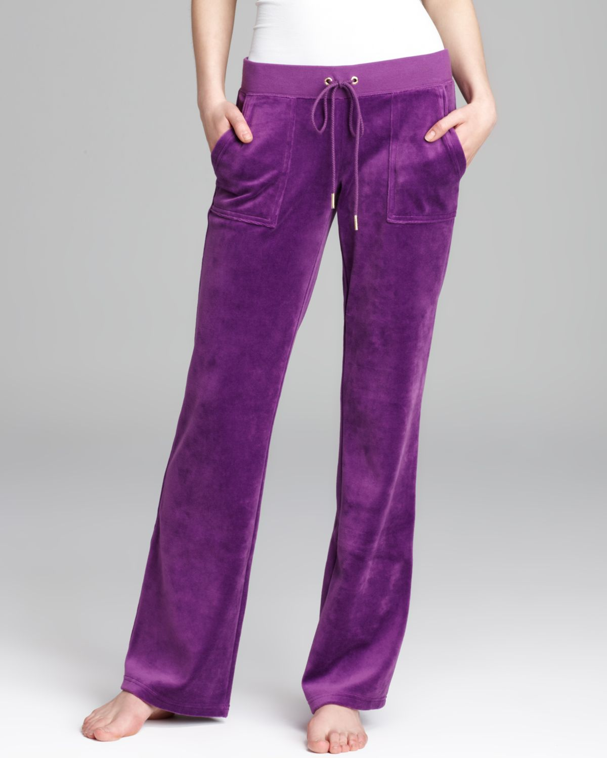 e67d8ae7 Juicy Couture Bootcut Pants Velour Bling in Purple - Lyst