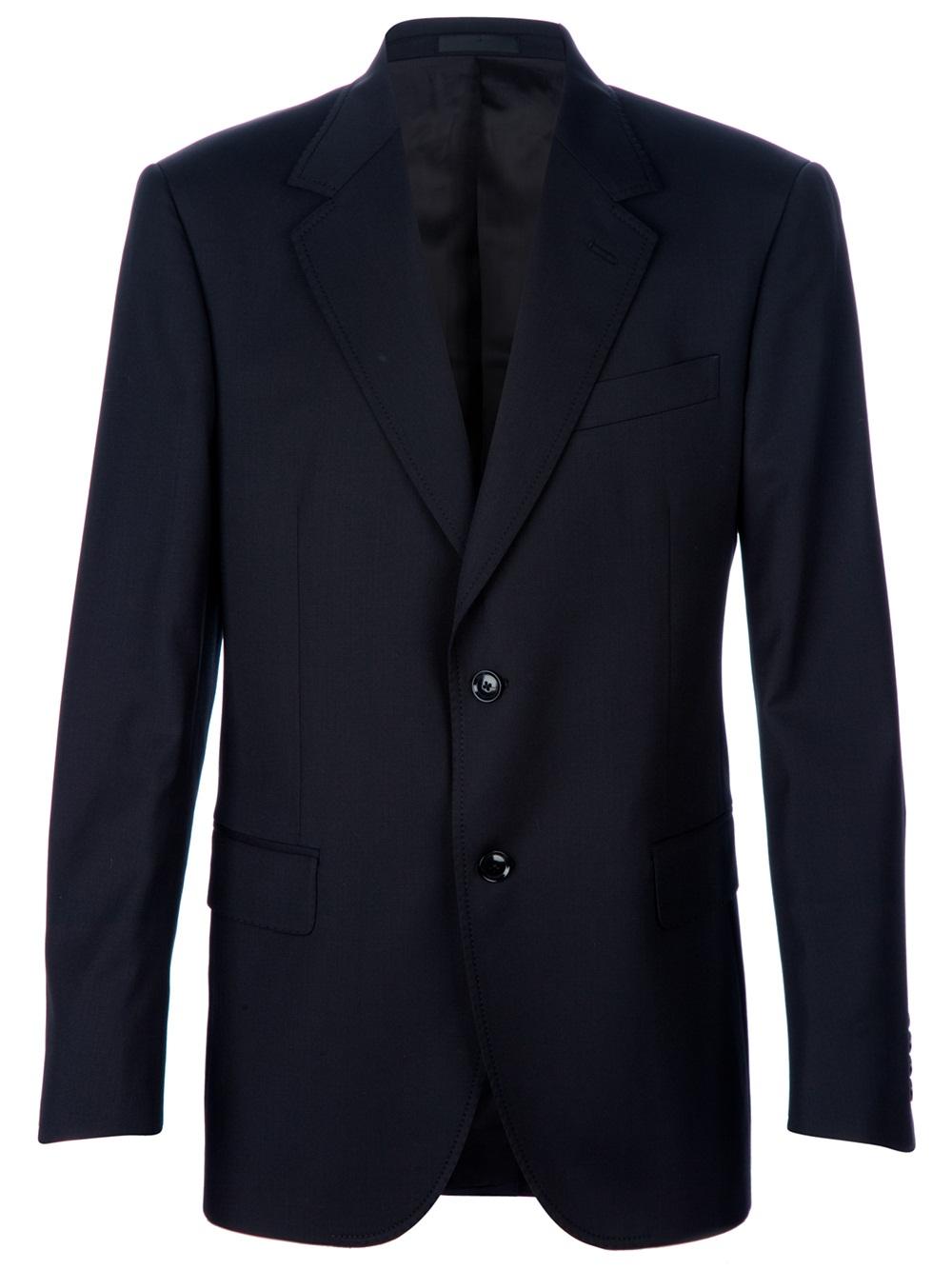 Lanvin Suit Jacket In Black For Men Lyst