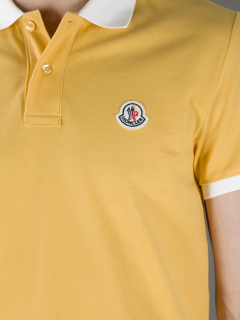 yellow moncler shirt