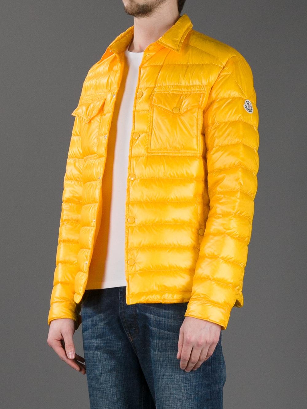 yellow moncler gilet