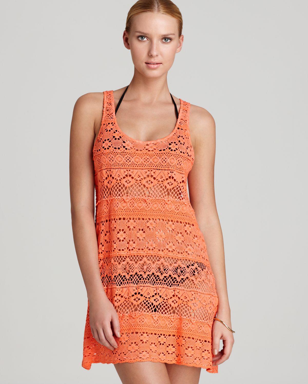 Lyst Nanette Lepore Swimsuit Cover Up Crochet Tank Dress