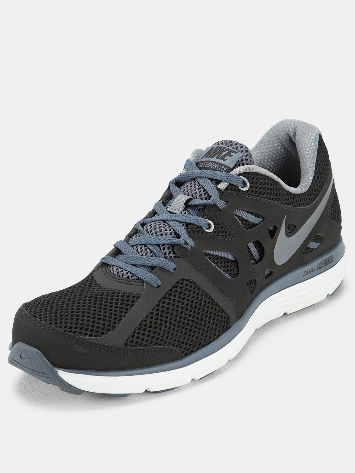 nike dual fusion lite mens trainers in gray for men black grey white lyst. Black Bedroom Furniture Sets. Home Design Ideas