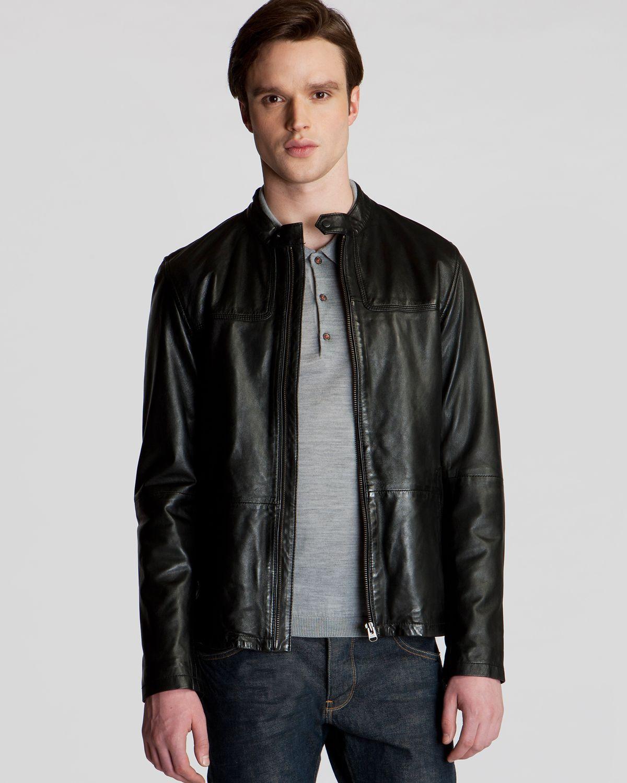 730961fd903641 Lyst - Ted Baker Birgin Leather Jacket in Black for Men