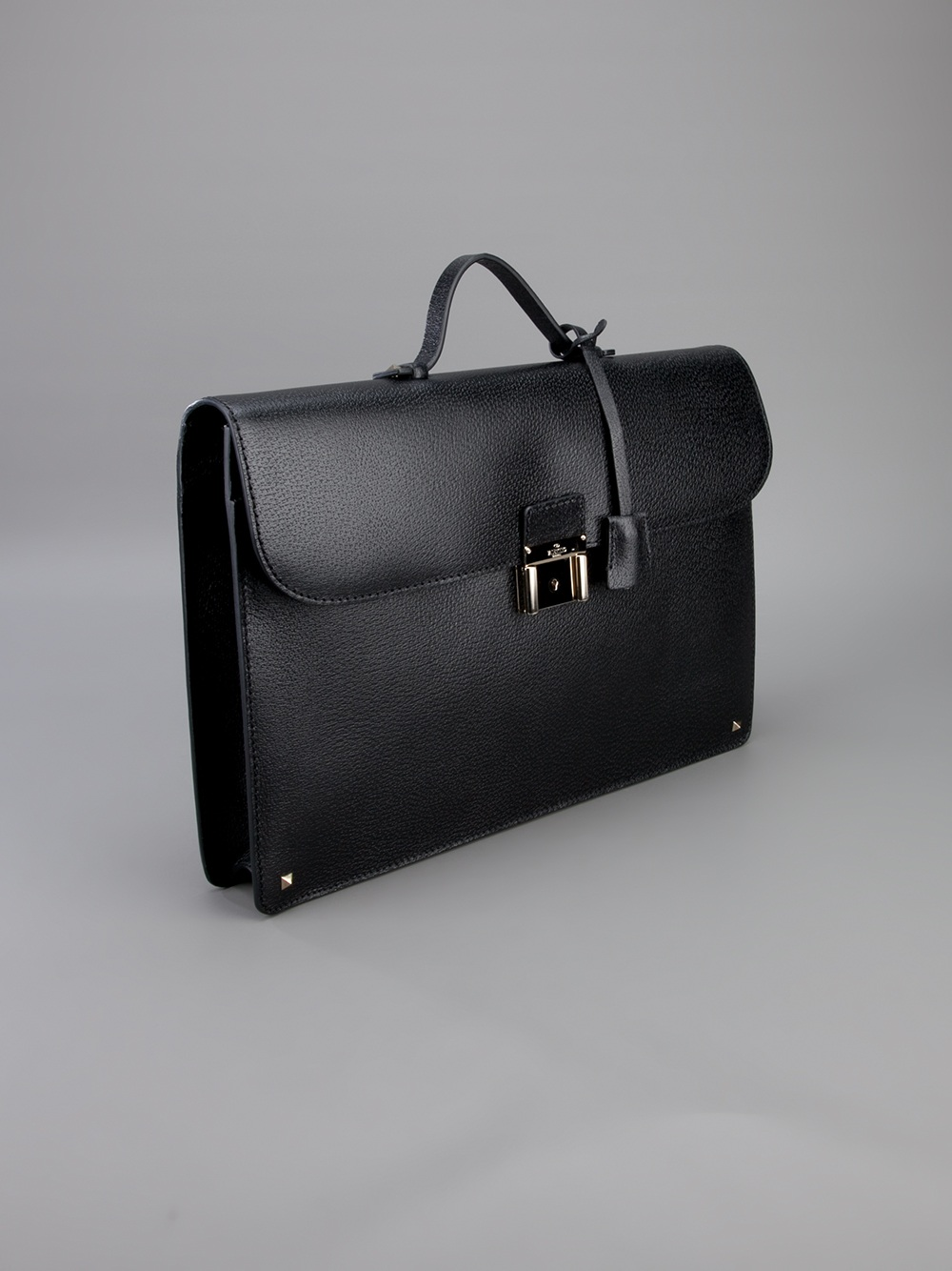 5d5d5a3aa3 Valentino Leather Briefcase in Black for Men - Lyst