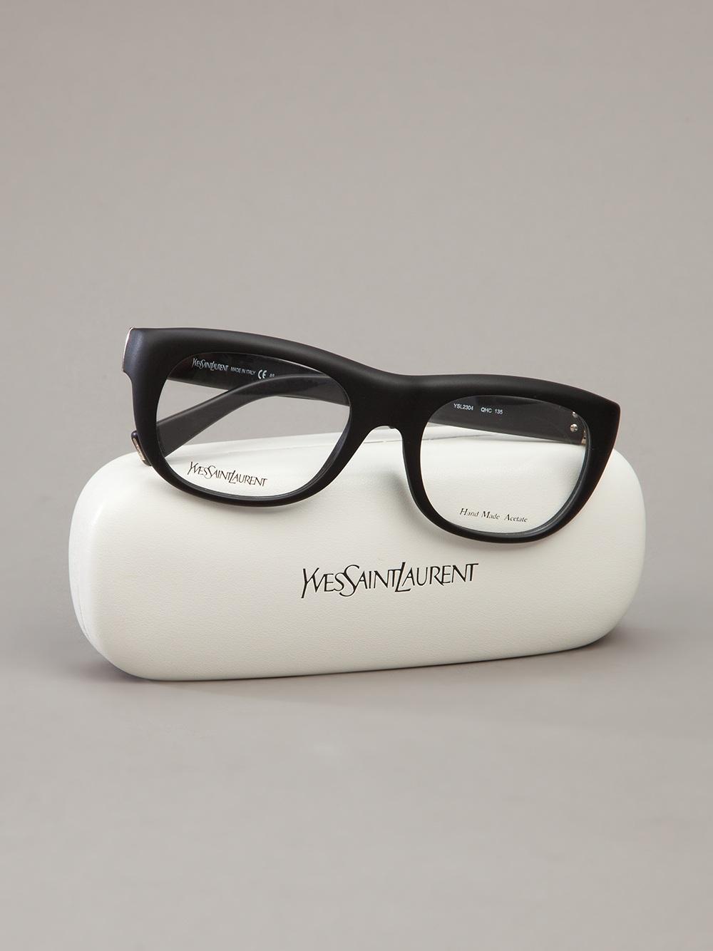 bab1e6cf39 Lyst - Saint Laurent Thick Frame Glasses in Black for Men