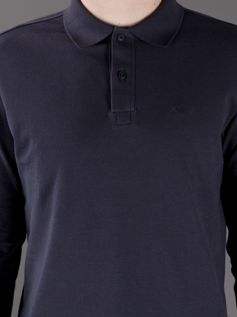 9fb3e01c Armani Jeans Navy Long Sleeve Shirt - raveitsafe