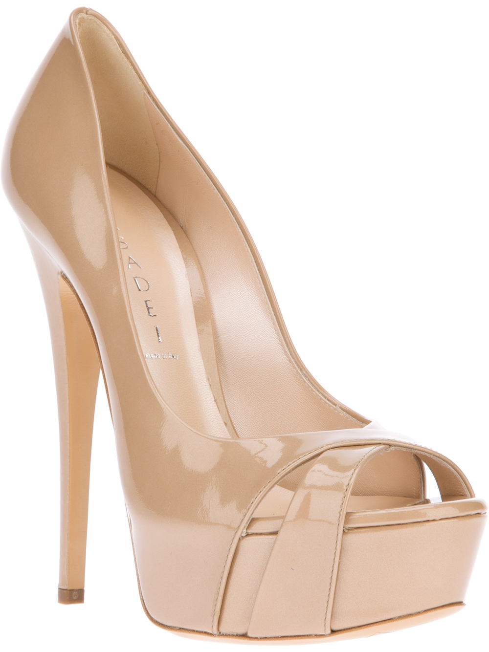 Casadei Peep-Toe Slingback Pumps many kinds of sale online from china low shipping fee xoSqs