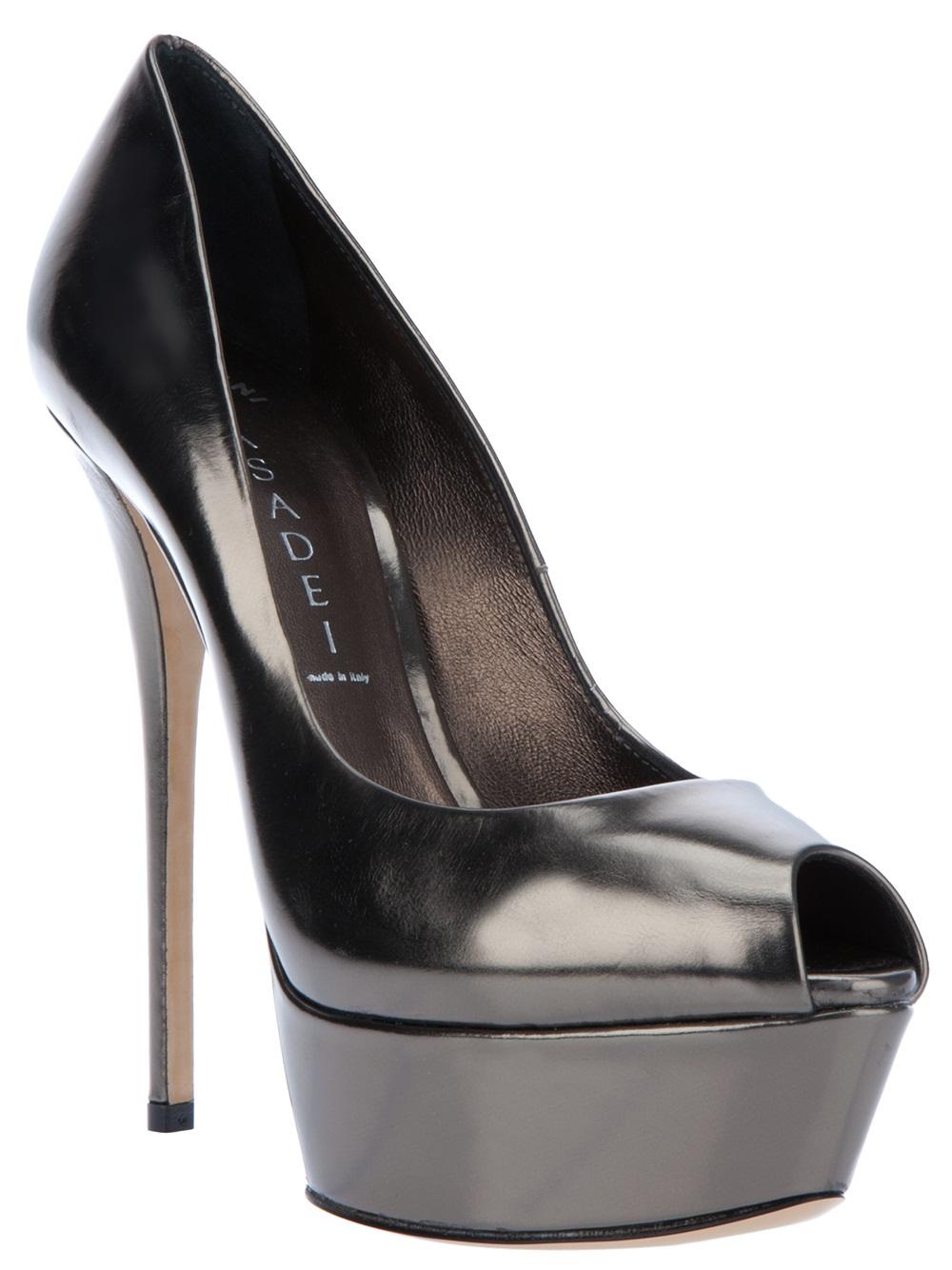 open-toe pumps - Black Casadei 2uLOk