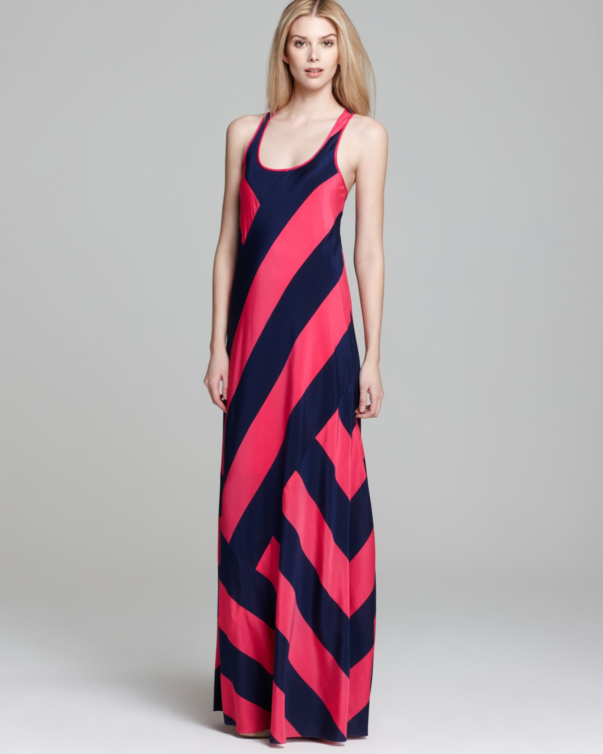 Dkny Scoop Neck Tank Maxi Dress in Pink  Lyst