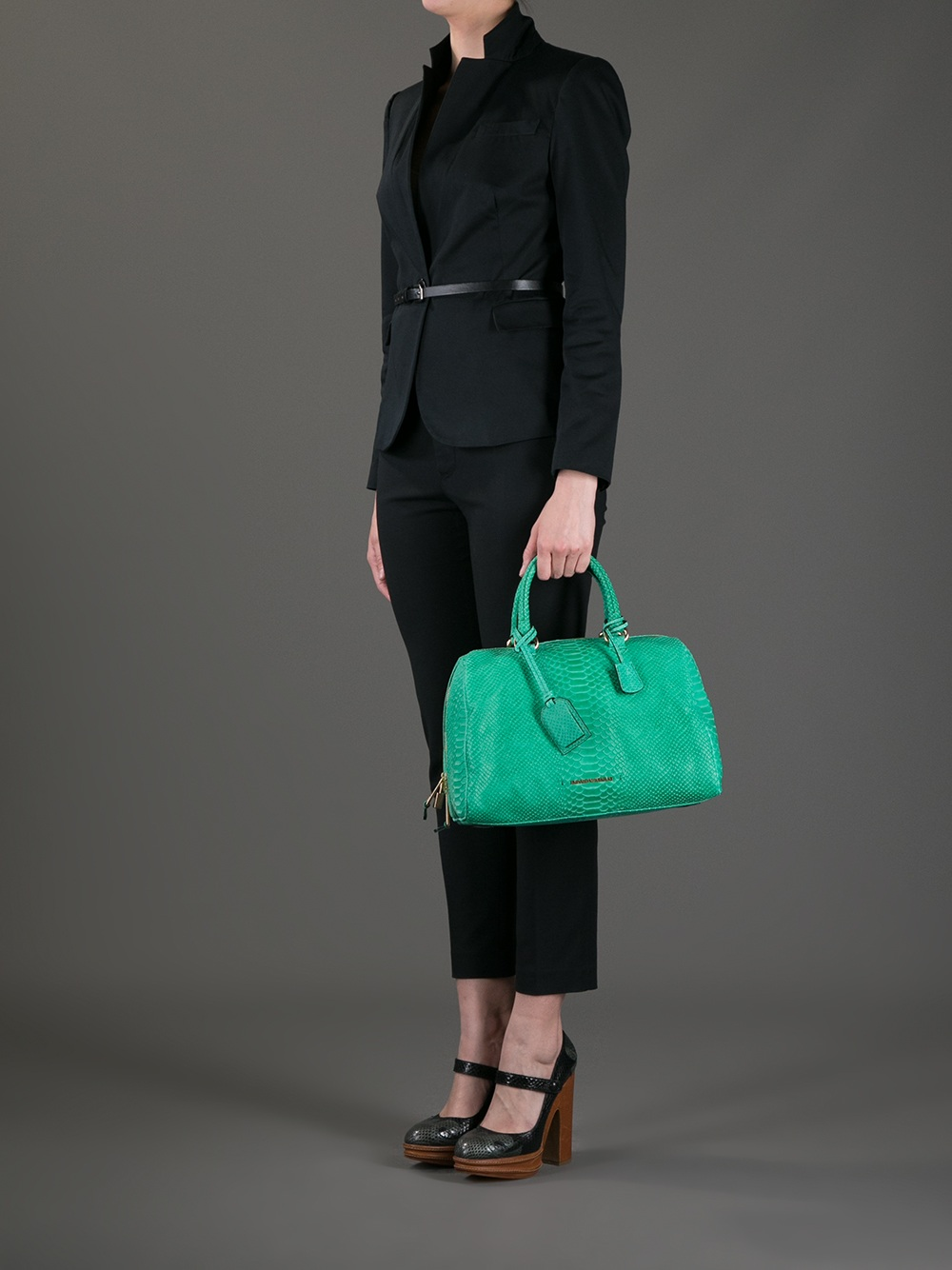 Lyst - Emporio Armani Bowling Bag in Green f84540fff069d