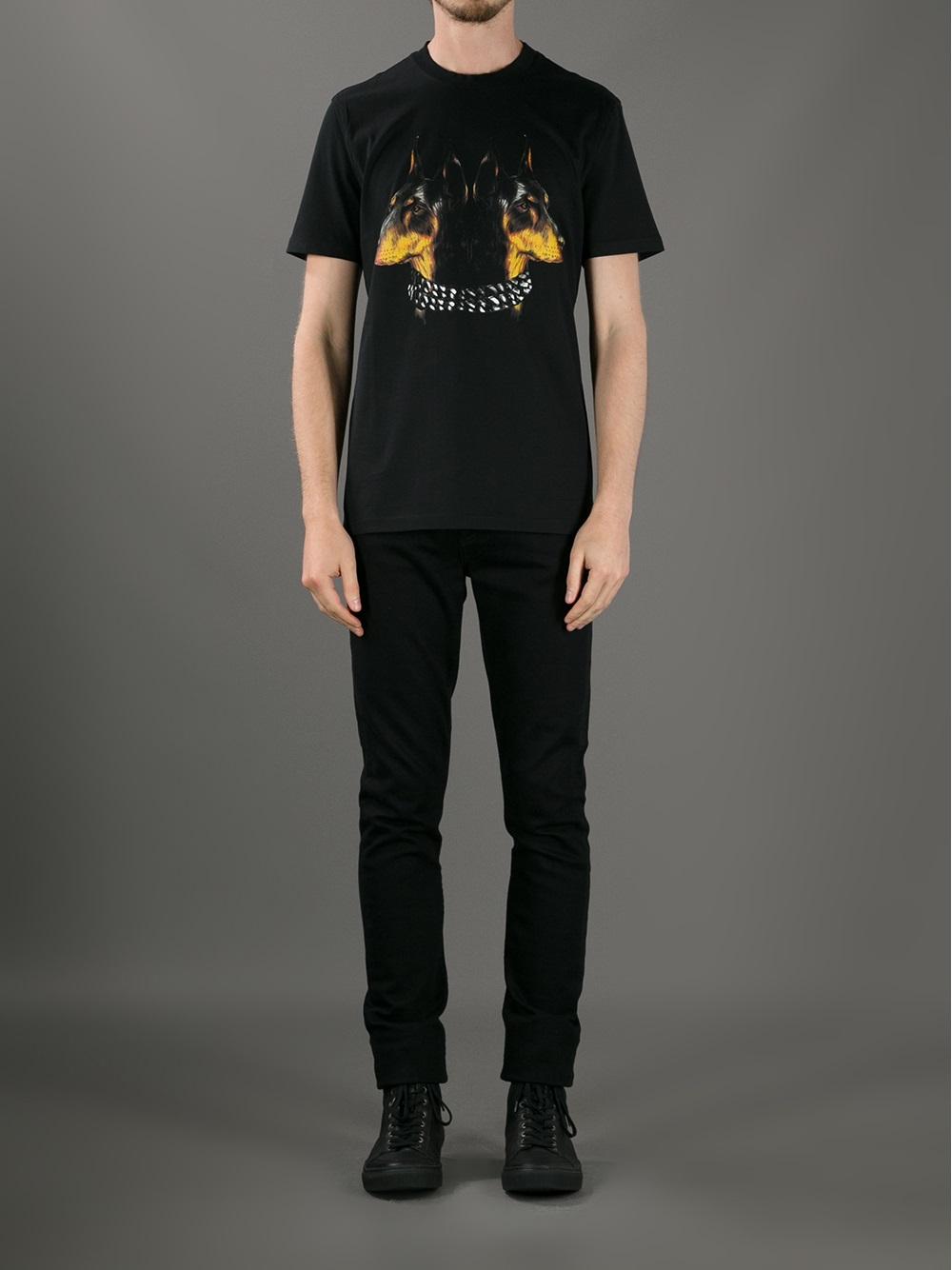 825908b84a Givenchy Doberman Print Tshirt in Black for Men - Lyst