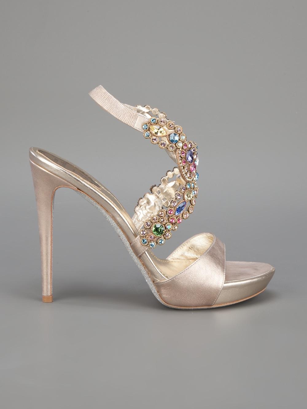 RENé CAOVILLA Strappy embellished sandals PdSGEmkp