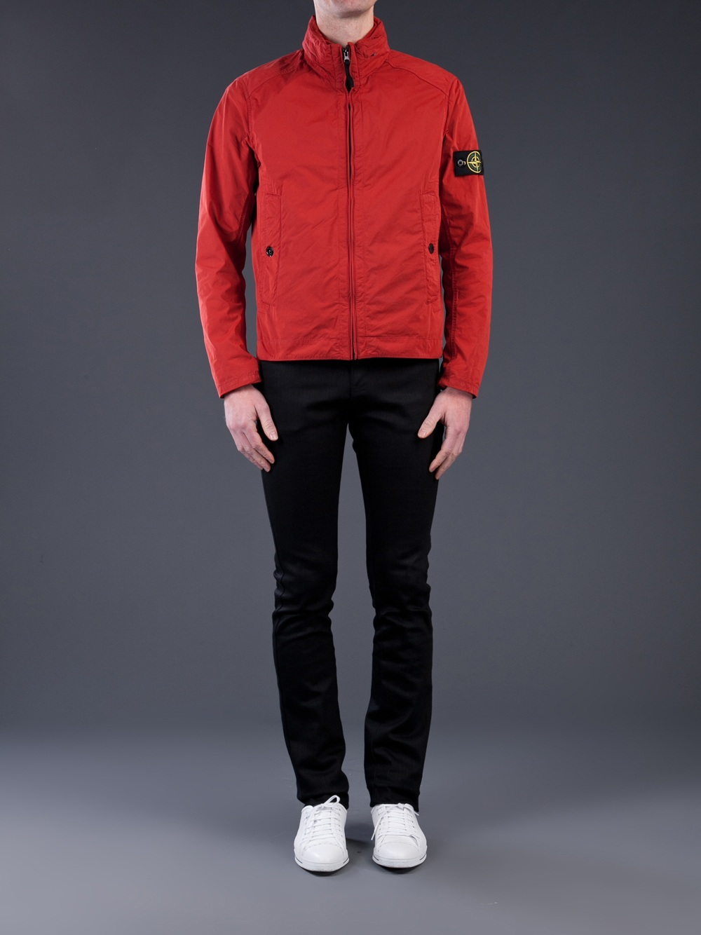 Stone island Lightweight Jacket in Red for Men | Lyst