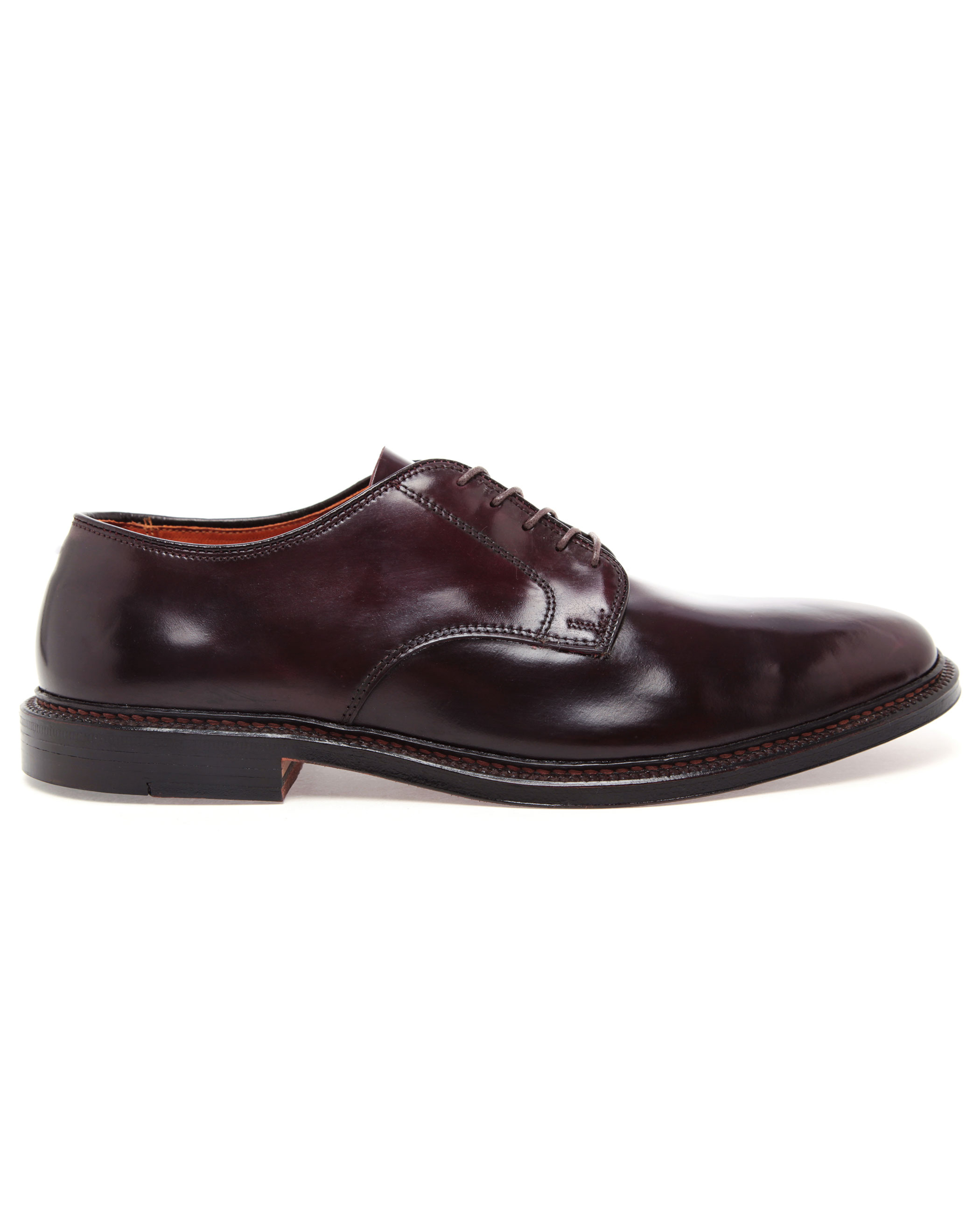 Oxblood Stacked Heel Shoes