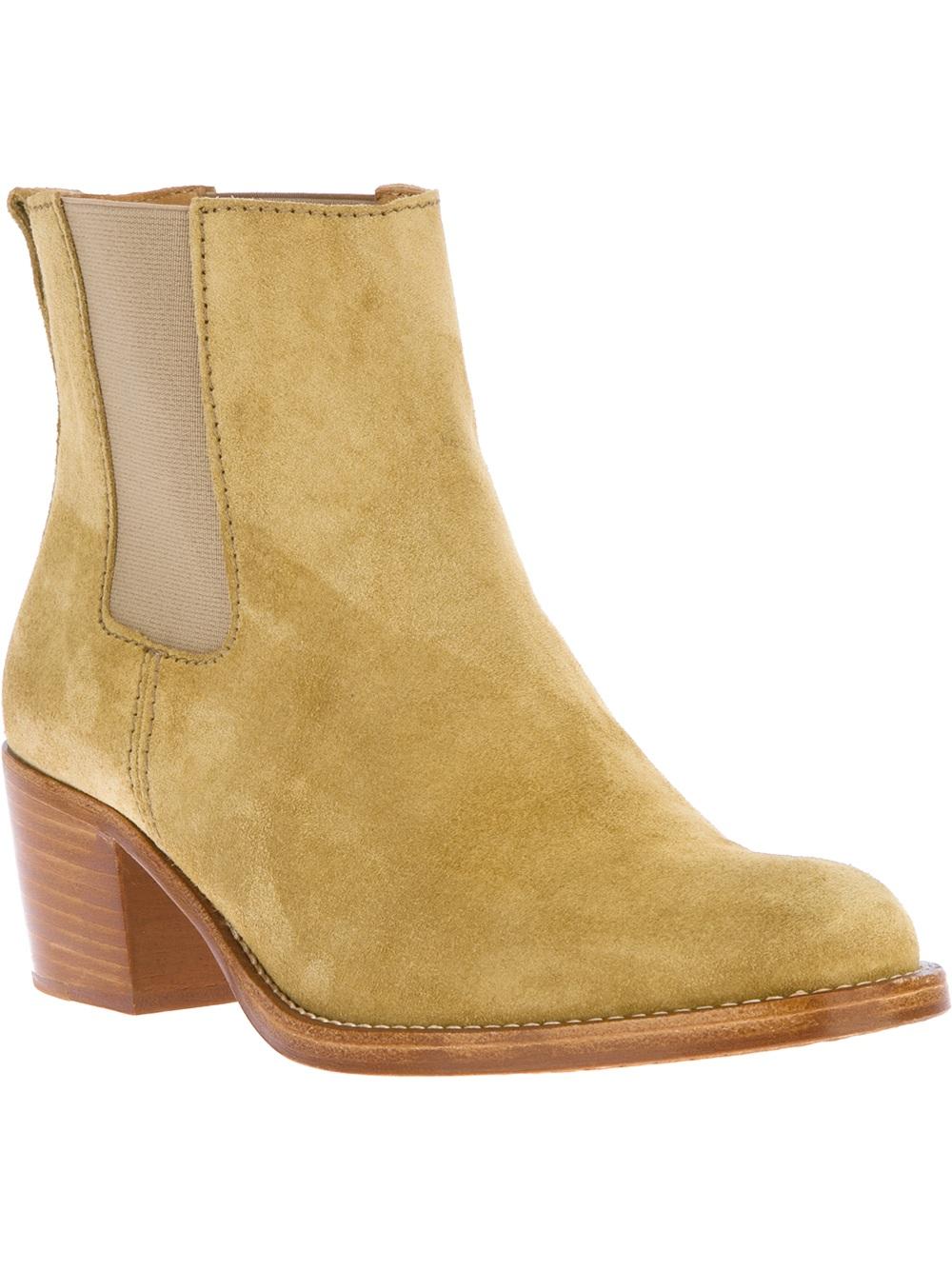 e3db7d51606f Lyst - A.P.C. Pull On Ankle Boot in Natural