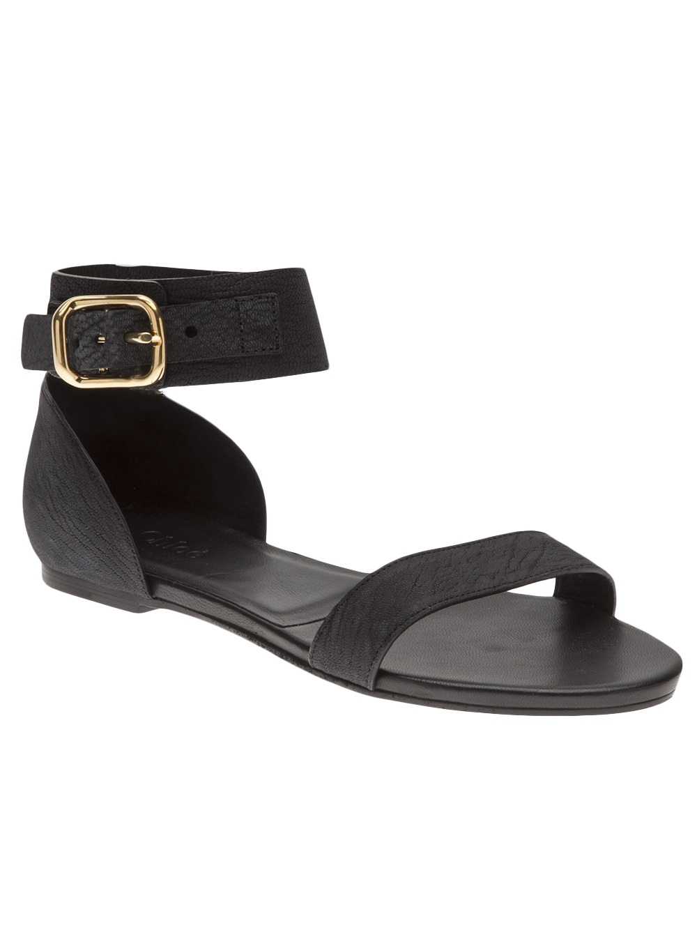 Lyst Chlo 233 Simple Flat Sandal In Black