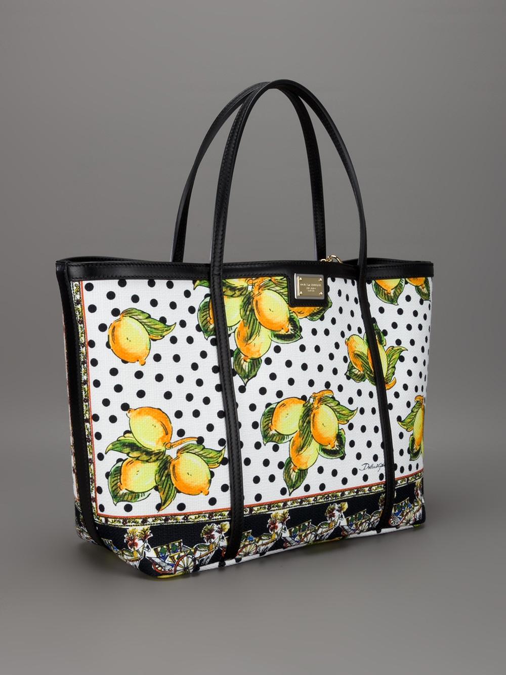 Lyst - Dolce   Gabbana Lemon Print Shopper in Yellow 603bcc27ad38d