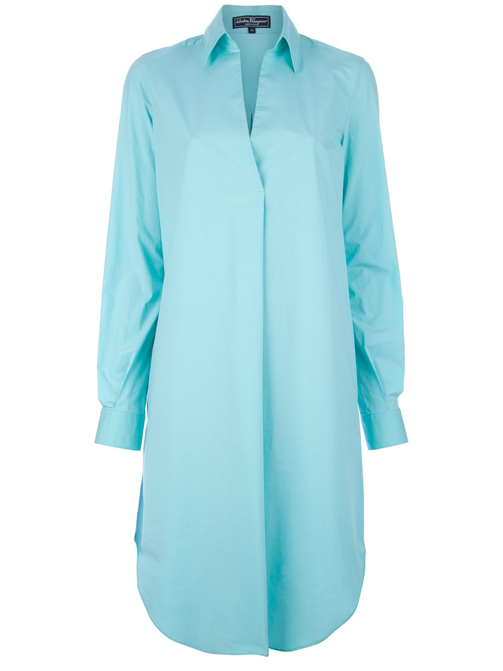 Ferragamo Oversized Shirt Dress in Blue  Lyst