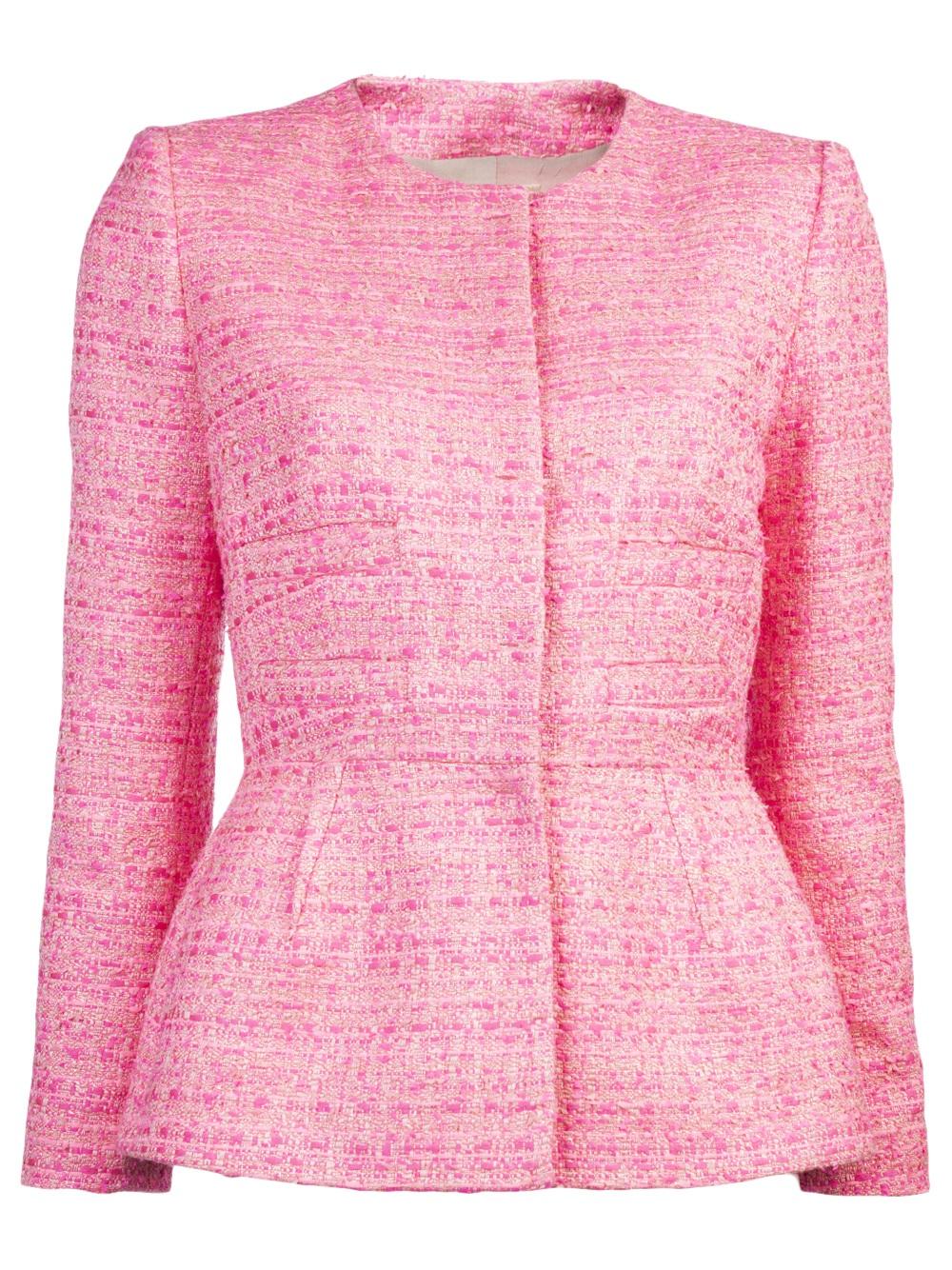 Giambattista valli Fluorescent Tweed Jacket in Pink | Lyst