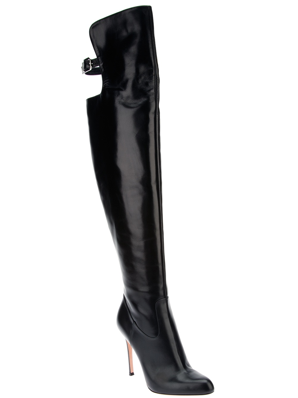 Black Knee High Leather Boots - Gommap Blog