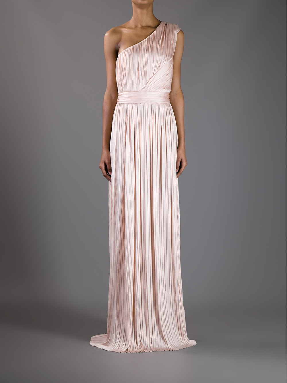 Lyst Givenchy One Shoulder Evening Dress In Pink