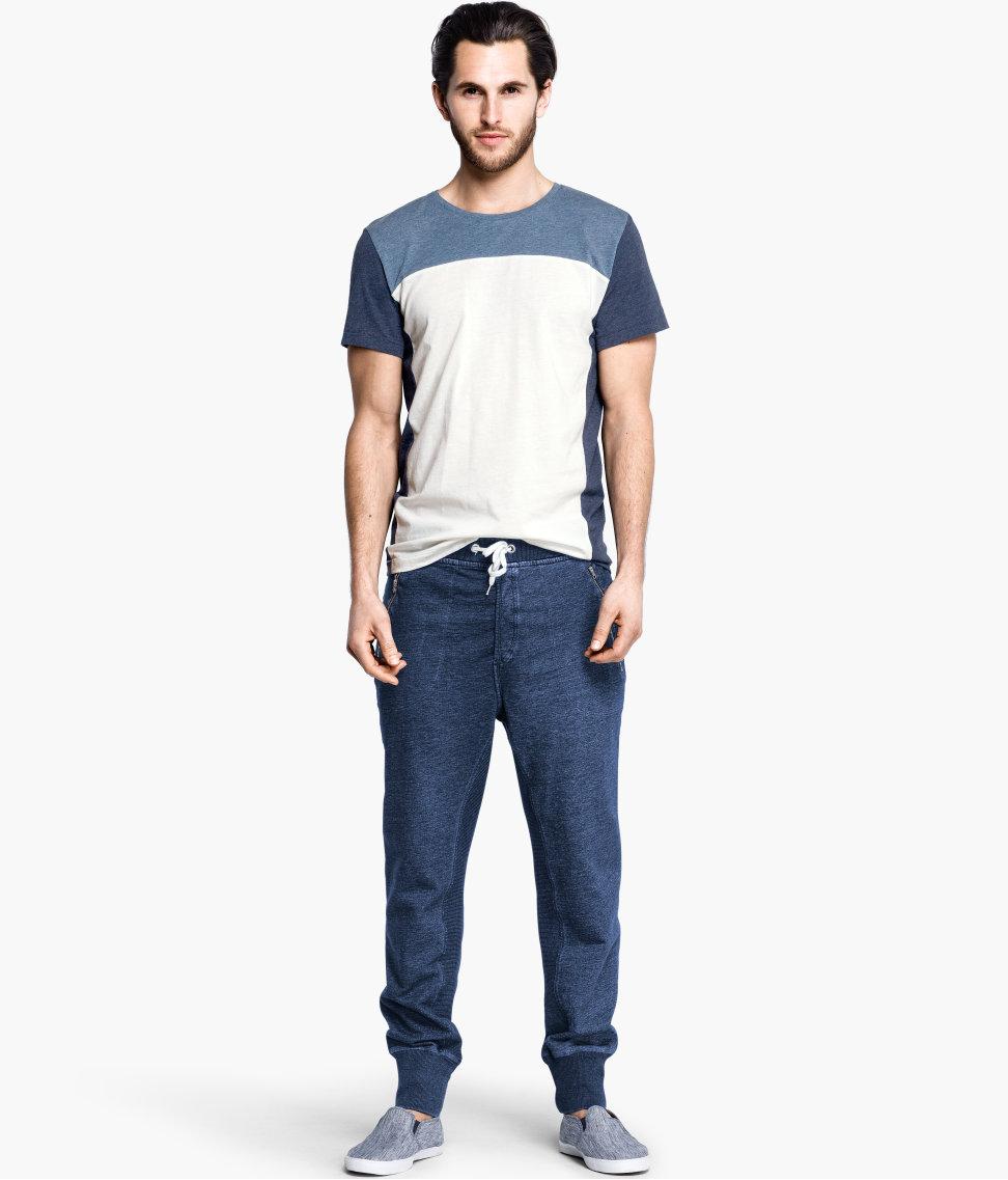 H&m Sweatpants in Blue for Men | Lyst