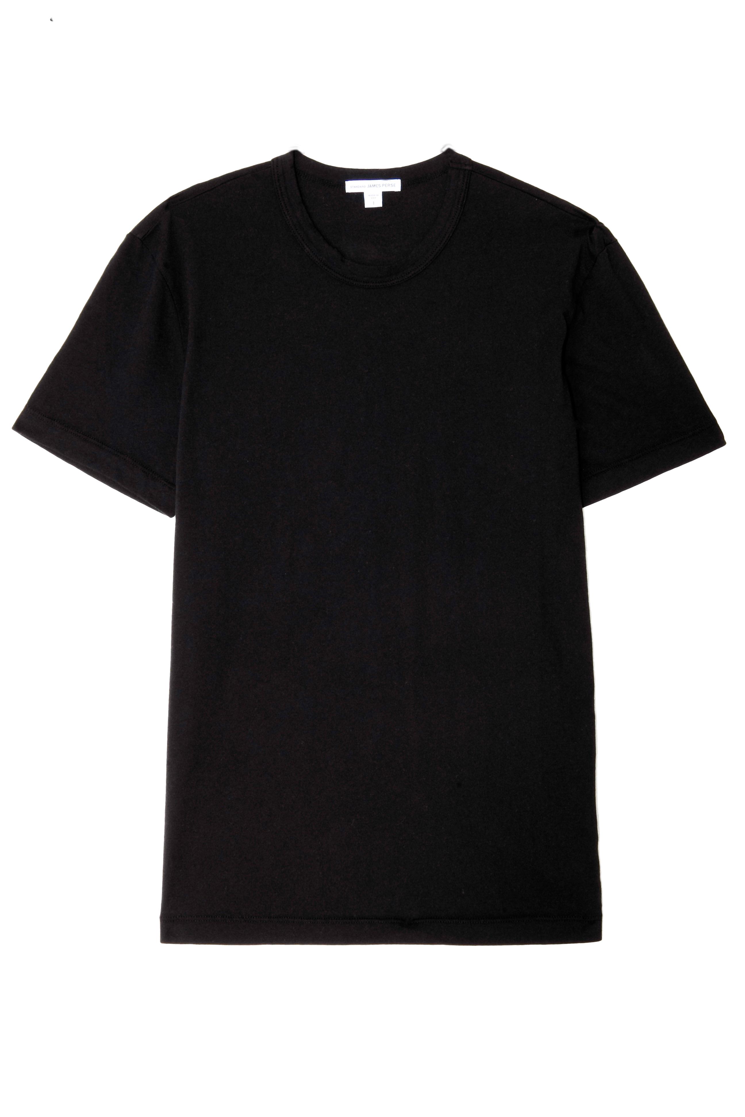 james perse basic v neck tshirt in black for men lyst. Black Bedroom Furniture Sets. Home Design Ideas