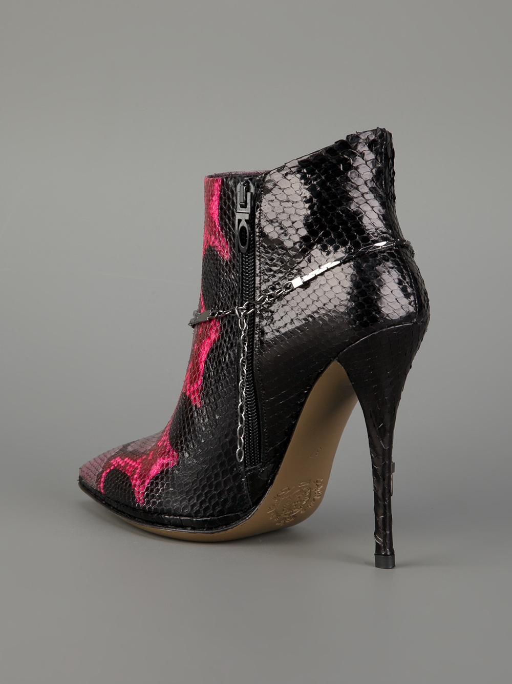 Lyst Luis Onofre Stiletto Ankle Boots In Black