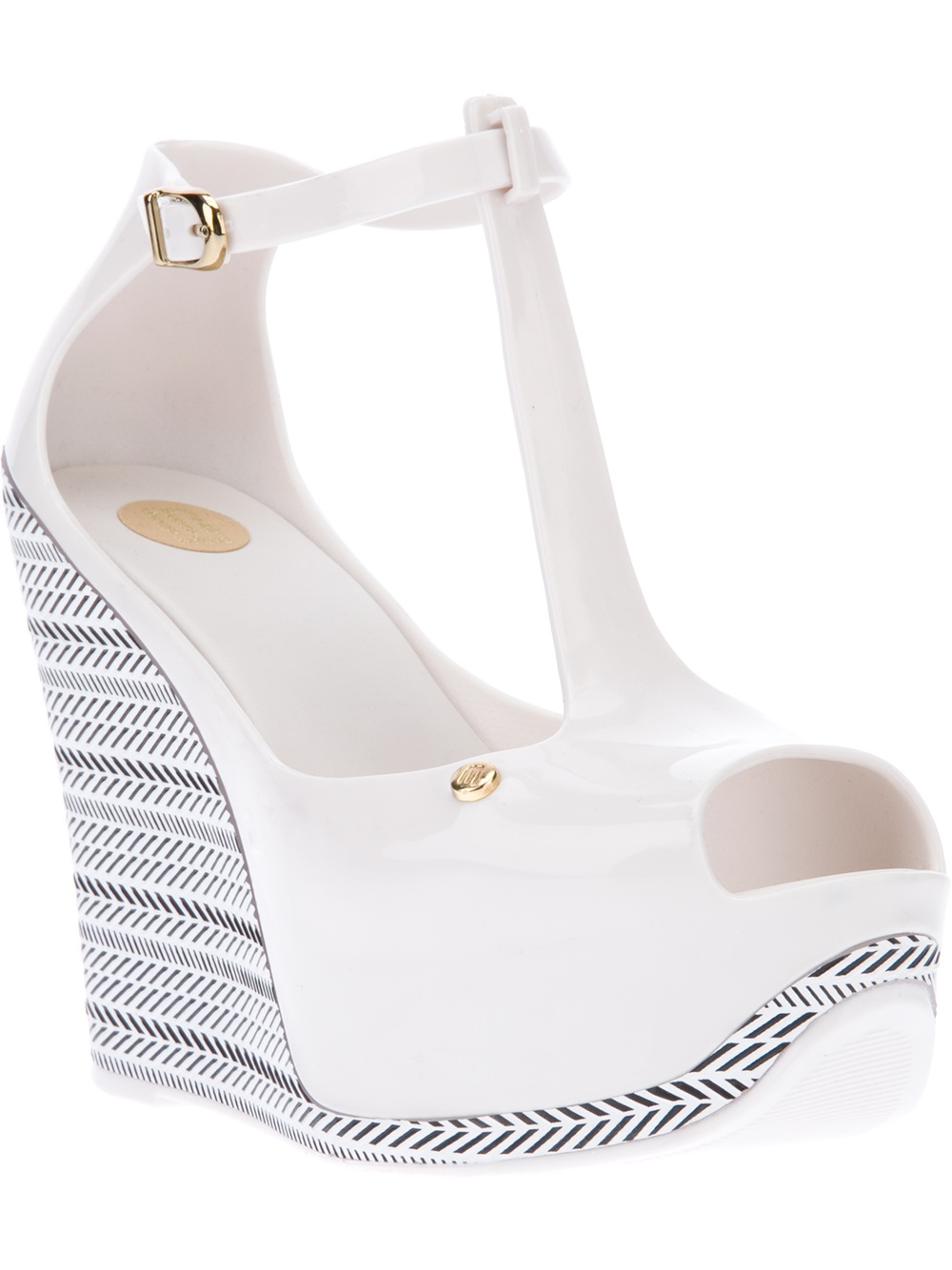 Sandal In Melissa White Wedge Lyst qzMpGSUV