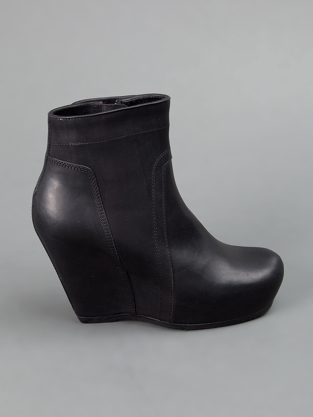 rick owens wedge boot in black lyst