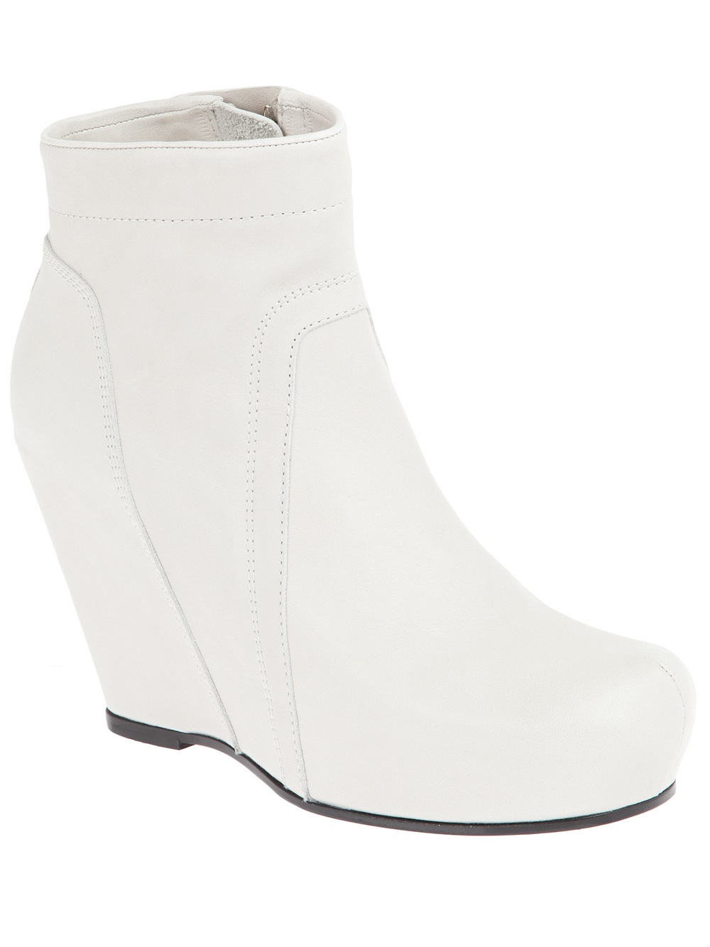 rick owens wedge boot in white lyst