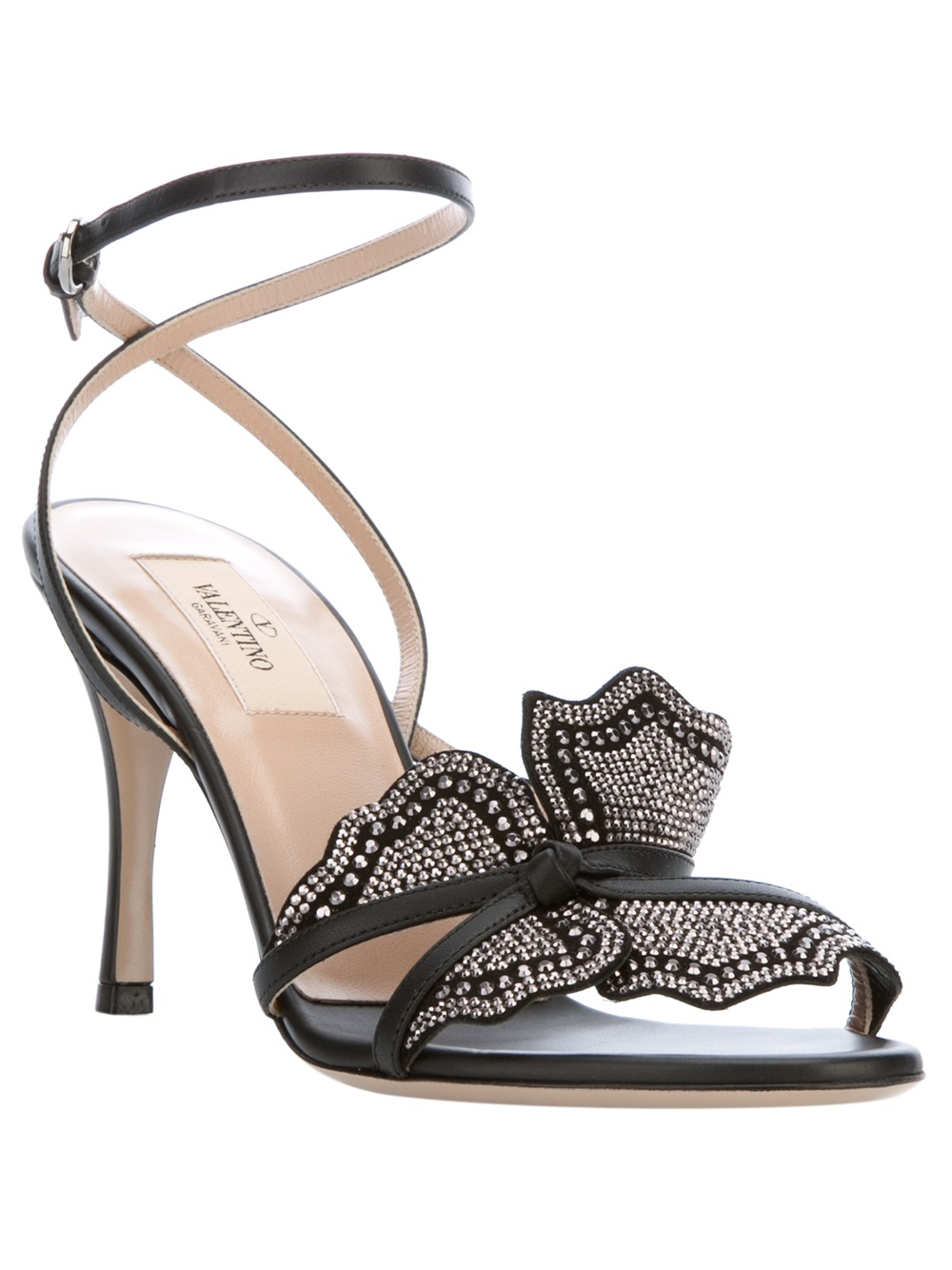 Valentino Butterfly Sandal In Black Lyst