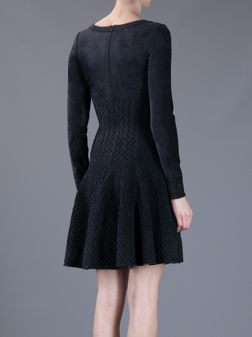 Lyst Ala 239 A Knit Skater Dress In Black