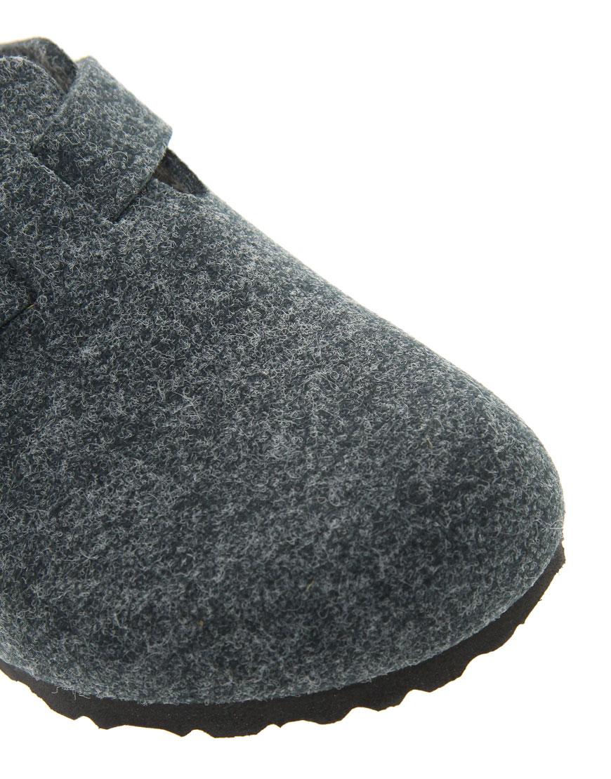 Lyst Birkenstock Boston Grey Wool Clogs In Gray