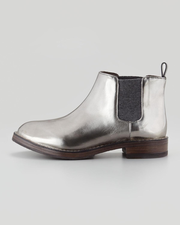 pre order cheap price Brunello Cucinelli Metallic Chelsea Boots buy authentic online discount authentic geniue stockist cheap price cheap sale shopping online HoDwEVomIe