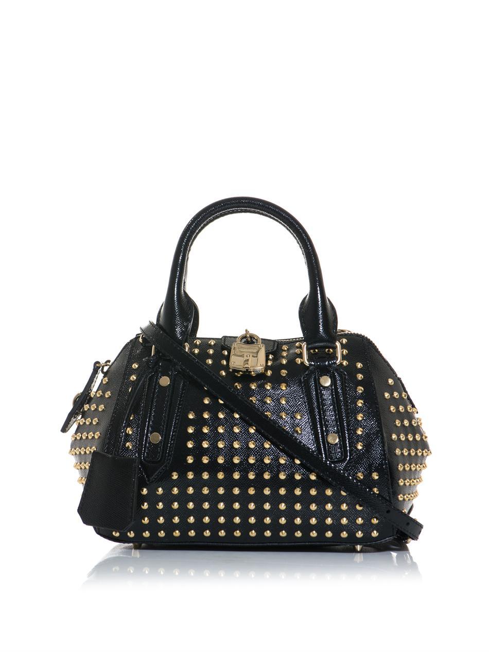 f25553f60353 Burberry Prorsum Blaze Studded Patent leather Bag in Black - Lyst