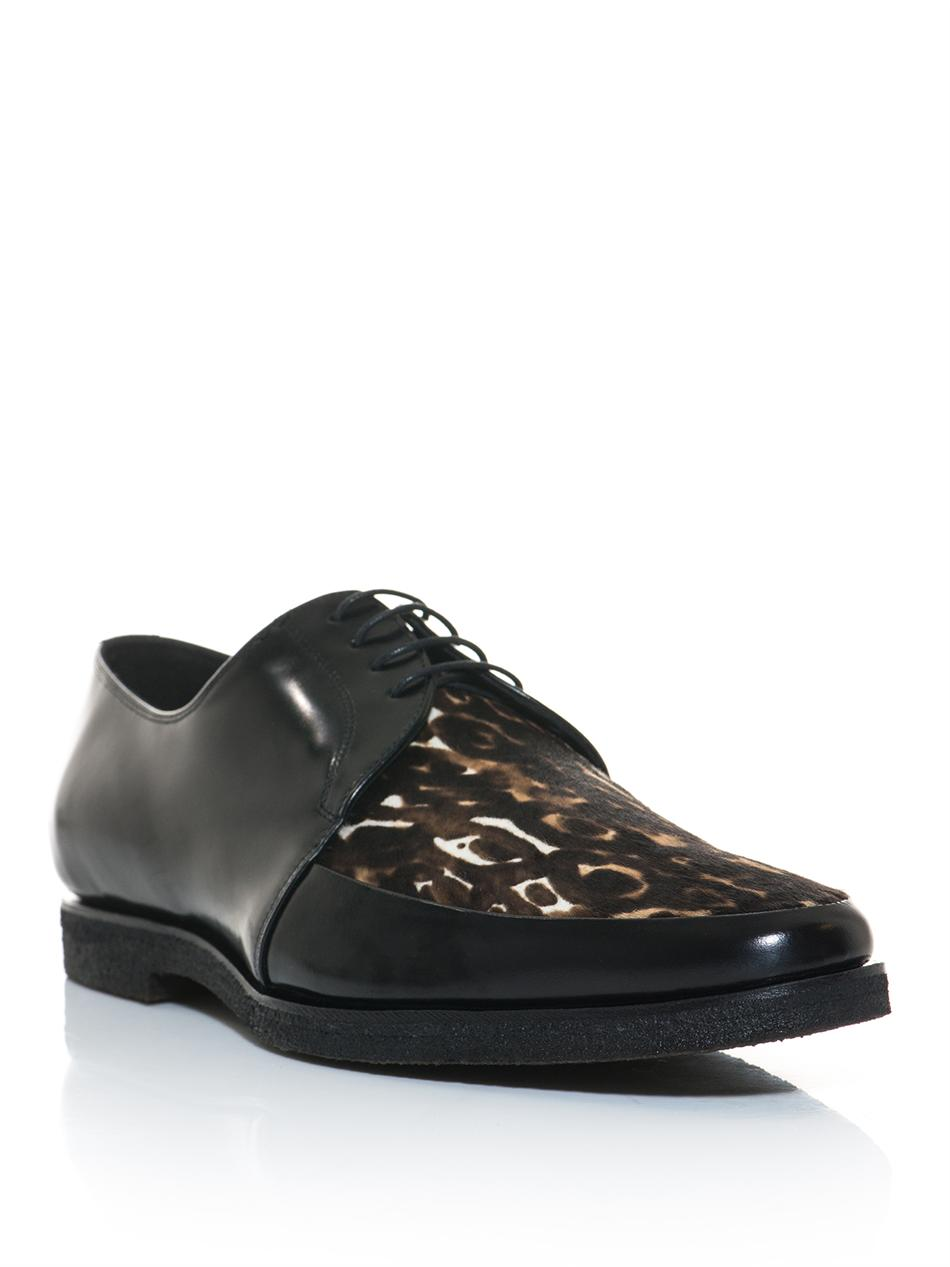 Burberry Prorsum Rictchson Leopard Pony Hair Derby Shoes For Men Lyst