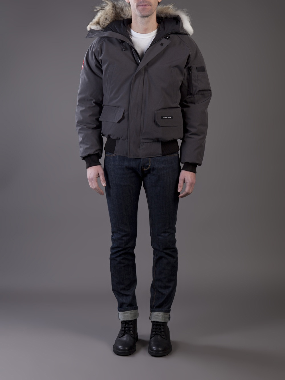 canada goose graphite chilliwack bomber jacket