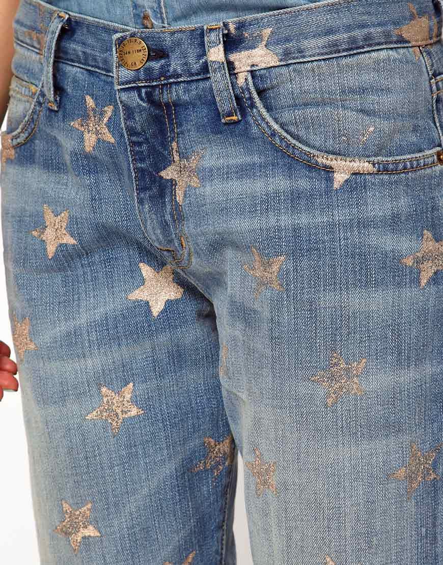 d25e5df2fcc Current/Elliott Currentelliot Star Printed Boyfriend Jeans in Blue for Men  - Lyst
