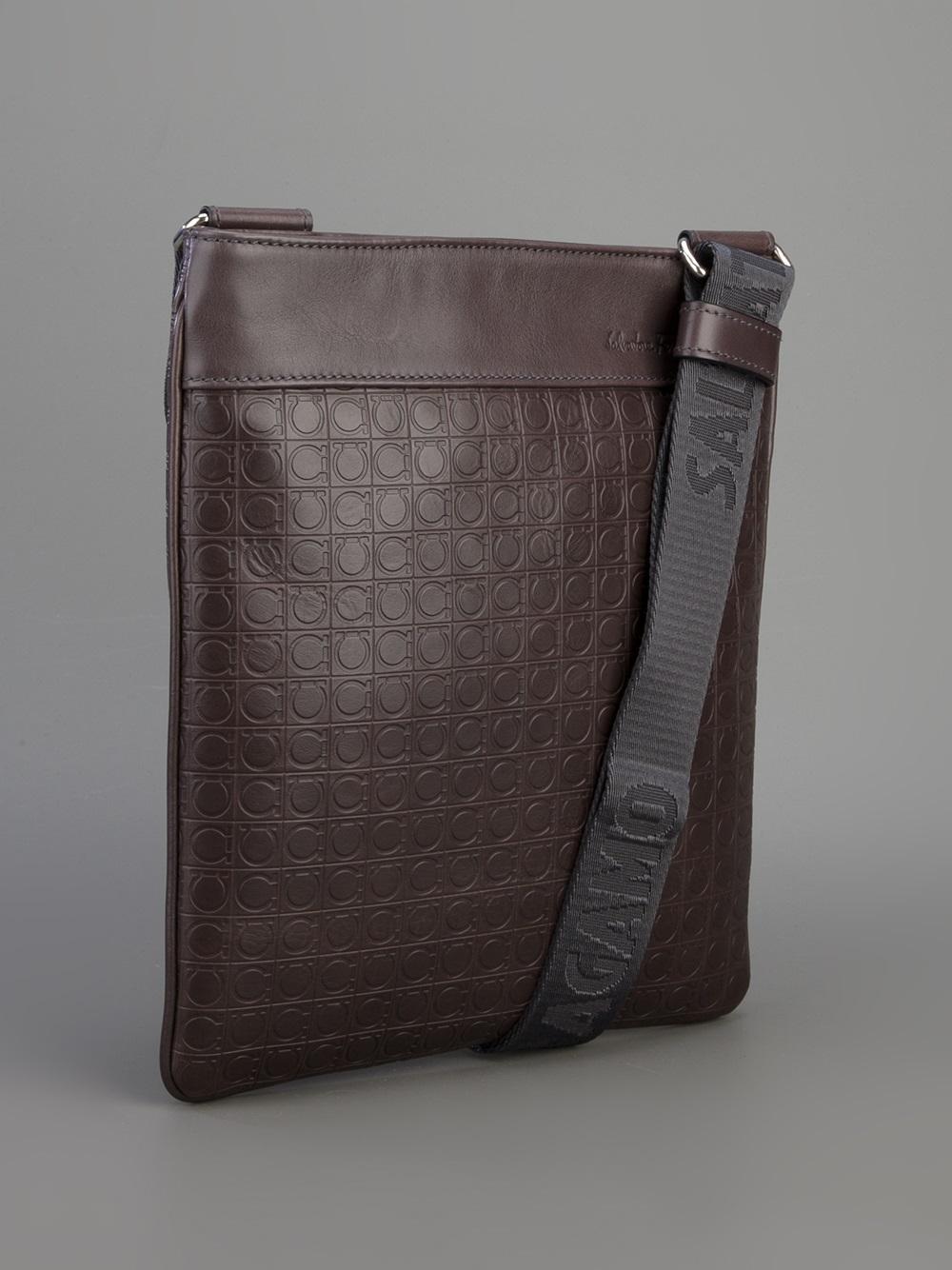 7953eb8e30 Lyst - Ferragamo Gamma Cross Body Bag in Brown for Men