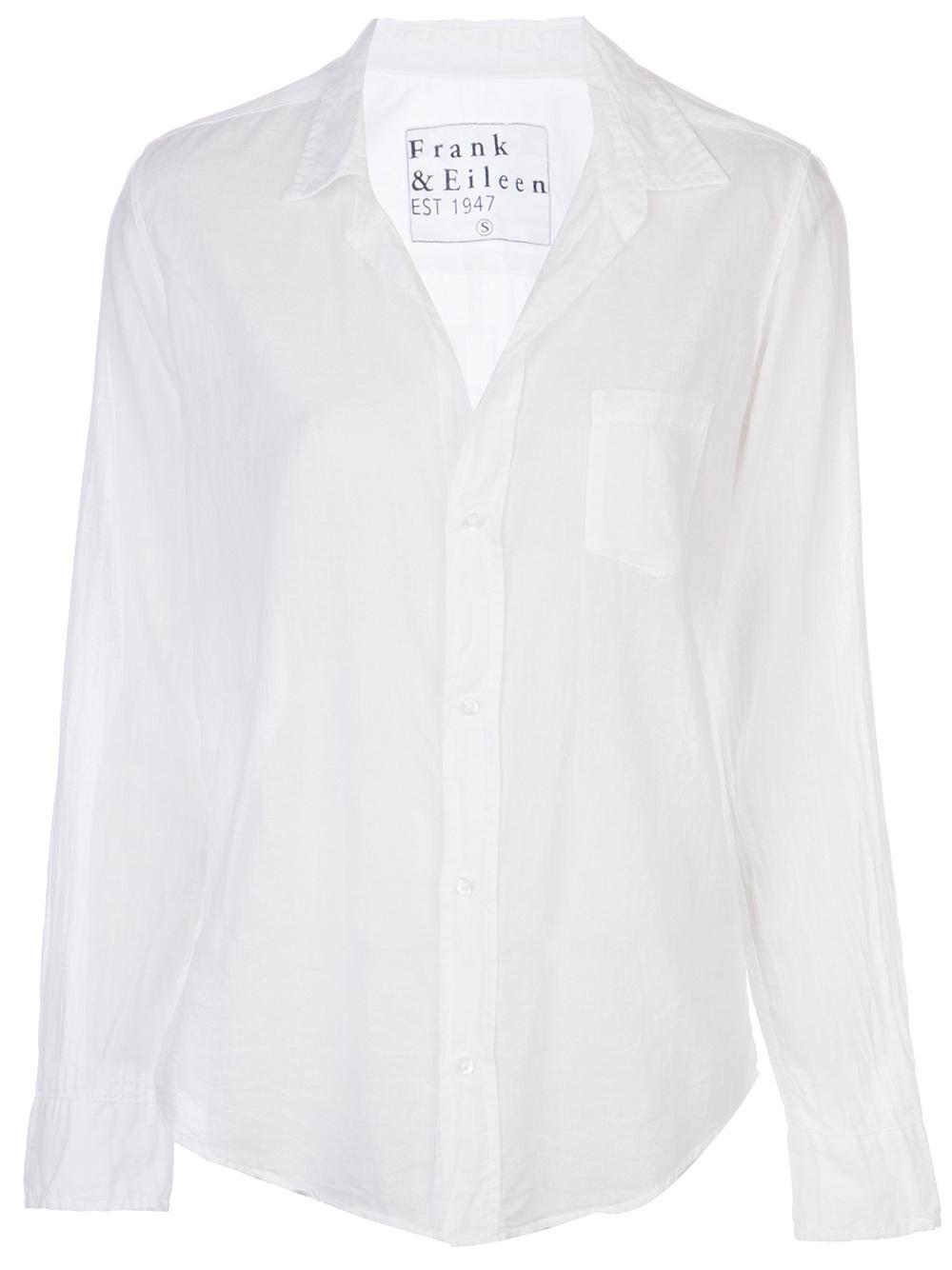 6c6e80fe61 Lyst - Frank   Eileen Voile Barry Shirt in White