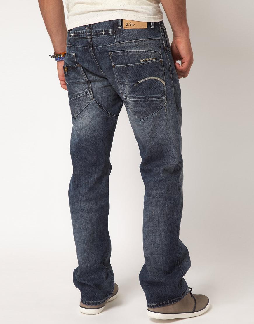 g star raw g star jeans loose fit in blue for men lyst. Black Bedroom Furniture Sets. Home Design Ideas