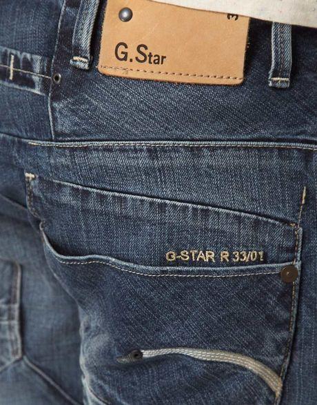 g star raw g star jeans loose fit in blue for men. Black Bedroom Furniture Sets. Home Design Ideas