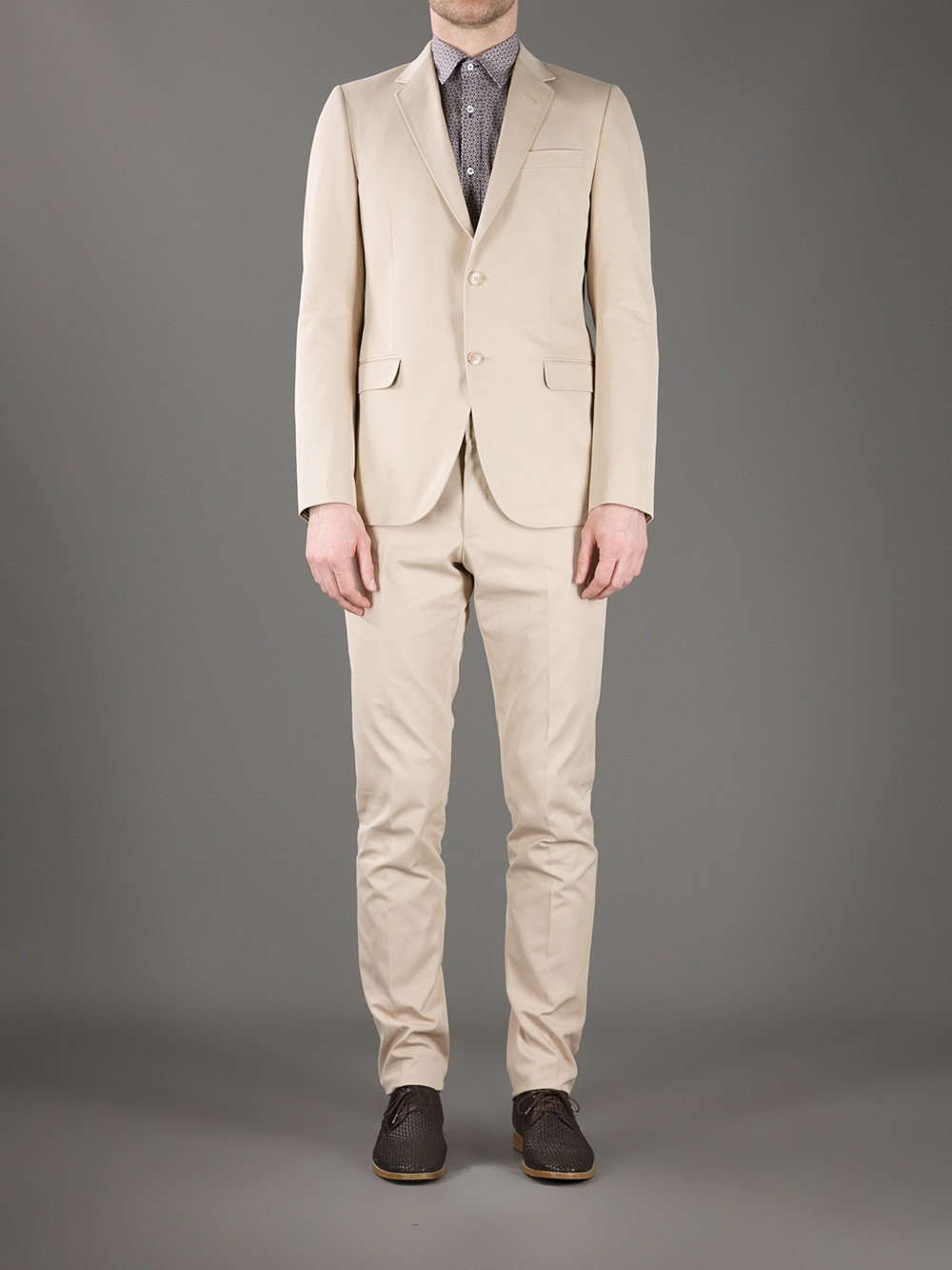 Lyst Gucci Lightweight Suit In Natural For Men