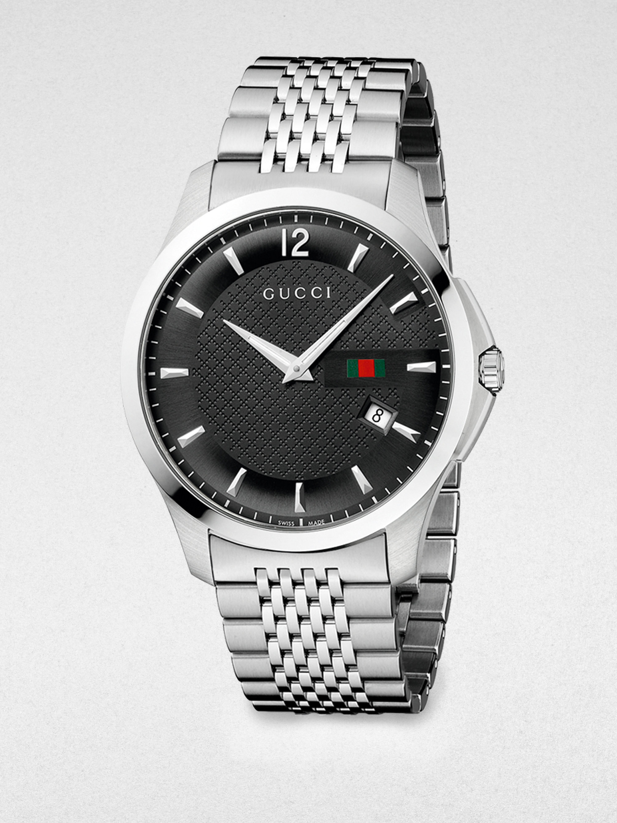 Gucci G Timeless Stainless Steel Watch In Gray For Men Lyst