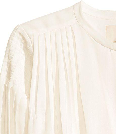 White Chiffon Blouse H&M 119
